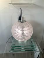 Tekintélyes 110 cm kerületű retro Doria (big ball) design függő lámpa a 70-es évekből