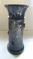 Badár I., Gádoros: fatörzs alakú kerámia váza 30 cm ritka gyűjtői darab