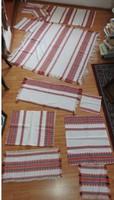 Vintage népi terítő készlet _  14 db - os textil készlet
