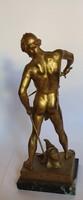 Bronz szobor: Harc után!