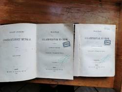 Toldy Ferenc:Magyar államférfiak és írók!I-II.kötet.1868.Ráth Mór kiadása, jó állapotban. Teljes!