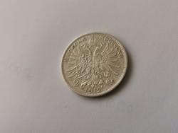 1912 Ferenc József osztrák ezüst 2 korona,keresett érme