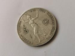1908 Ferenc József ezüst jubileumi 5 korona