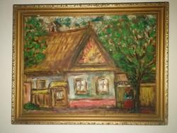 C. B. szignós, antik festmény, gyönyörű! 1 forintról! Nincs minimálár!