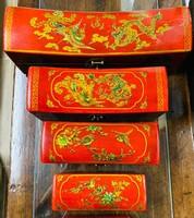 4 db! Tradicionális kínai sárkányos párnadoboz szett (4db), ázsiai, japán, keleti