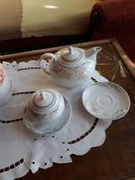 Alföldi porceán tea kiöntő, cukortartó, teáscsésze