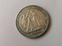1907 Ferenc József ezüst 5 korona 24 gramm 0,900 !Koronázási!!I