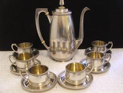 Csodálatos antik ezüst kávés készlet