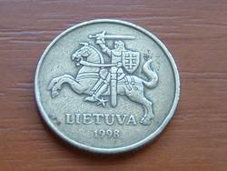 LITVÁNIA 50 CENTU 1998 B típus 60%-70% réz, 40%-30% cink #