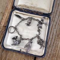 Antik ezüst karkötő zsuzsukkal