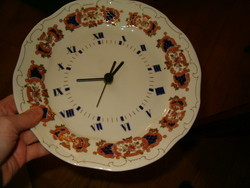 zsolnay porcelán óra új sosem használt gyönyörű darab bolt polcáról kis takarítás ráfér