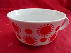 Alföldi porcelán, napocska mintás teáscsésze, felső átmérője 10,3 cm.