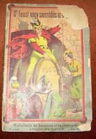 Dr. Faust vagy szerződés az ördöggel antik könyv - füzet