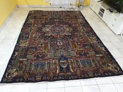 Iráni sah költői képek kashmar 200x305 kézi csomózású gyapjú perzsa szőnyeg MM_704