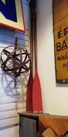 Evezőlapát, régi fa evező a 20. század közepéről, dekoráció