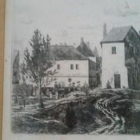 Gross Arnold : Soproni házak, 1961, gyűjteményi darab