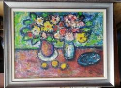 Vén Emil Csendélet citromokkal, olaj - farost