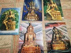 Mongólia képeslapok 5 db