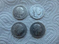 Ferenc József ezüst 1 florin 4 darab LOT !!! 03