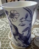 14 x 9.5 cm  angol porcelán bögre, madaras
