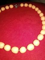 50-es 60-as évek műanyag gyöngysor női ékszer nyaklánc vintage necklace 50'