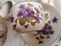 Antik  Zsolnay ibolyás teás csésze