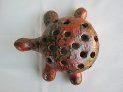 Retro Tófej kerámia teknős