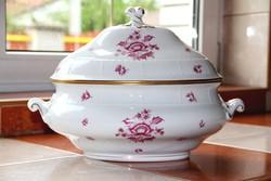 Herendi 12 személyes Nanking Bouquet Pink leveses tál