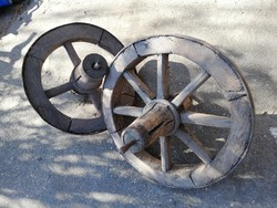 Népi paraszt Loft vintage Tragacs talicska kerék 2db