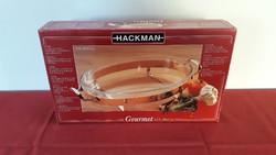 Vadonatúj Hackman Gourmet ovális hőálló tál réz tartókerettel