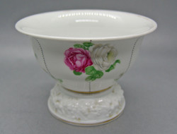 B143 Rosenthal talpas rózsás kaspó, kínáló - gyönyörű gyűjtői darab!