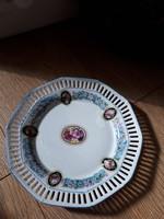 Rózsás, nefelejcses áttört tányérok