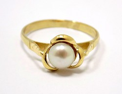 Gyöngyös arany gyűrű (ZAL-Au96486)
