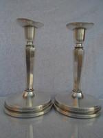 Gyönyörű szép ART DECO ezüst gyertya tartó párban hibátlan darabok nem súlyozottak