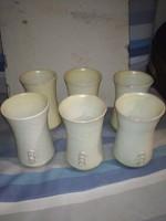 Laborcz Mónika kerámia pohárkészlet - 6db