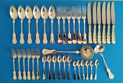 Ezüst evőeszköz készlet 6 személyes bécsi fazon