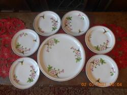 Zsolnay kolibris süteményes készlet 6sz.