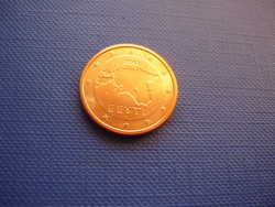 ÉSZTORSZÁG 2 EURO CENT 2012 ! UNC! RITKA!