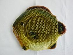 Gránit kerámia fali dísz tál dísztányér hal