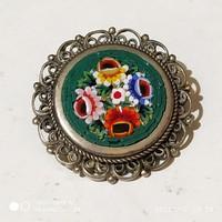 Antik Murano mikro mozaikos brooch