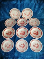 Tejüveg tányér készlet 3 személyes 9+2 db (2p)