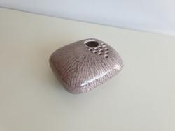Retro régi szürke kerámia ikebana kavics váza