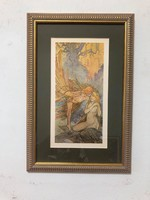 Alfonz Mucha a szecesszió koronázatlan királya (1860-1939) múzeumi litográfia