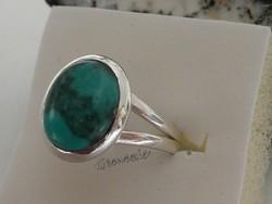 Valódi Türkiz Drágaköves 925 Ezüst Gyűrű 54-es