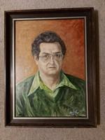 Kovács Ernő:  Önarckép, festmény, 44x60 farost,  cím jelezve, katalogizálva...
