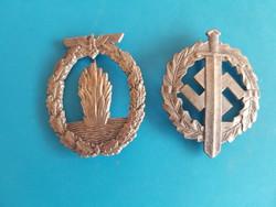 2 német háborús jelvény , másolat.
