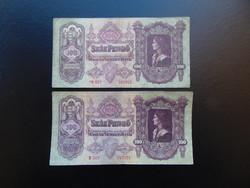 2 darab 100 pengő 1930 csillagos - csillag nélkül 02
