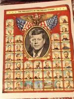 JF.  Kenedy amerikai   eredeti elnöki  Plakàt