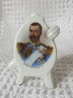 V. György brit uralkodó portréjával illusztrált kis relikvia, ritka darab!