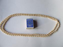 Régi, vintage hosszú (140 cm)  bizsu gyöngysor, gyöngy nyaklánc